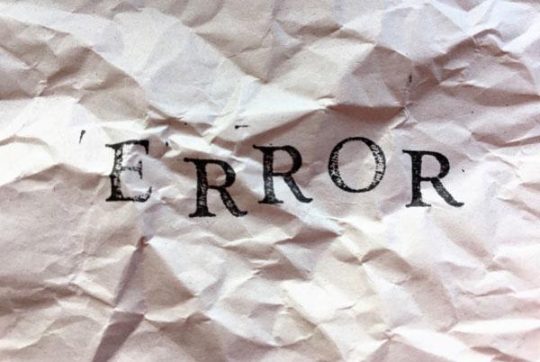 トランクルーム経営でよくある2つの失敗 ERRORの文字